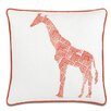 Eastern Accents Wild Things Genteel Giraffe Throw Pillow