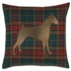 Eastern Accents Pets Boxer on Brandy Spice Throw Pillow