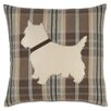 Eastern Accents Pets Yorkie Does Plaid Throw Pillow