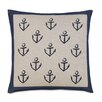 Eastern Accents Ryder Block Printed Anchors Throw Pillow
