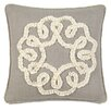 Eastern Accents Sabelle Breeze Linen Ruffled Ribbon Down Throw Pillow