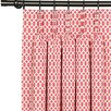Eastern Accents Matilda Pirouette Three-Finger Cotton Pleated Single Curtain Panel