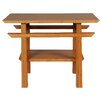 Greenington Lotus End Table in Caramelized Finish