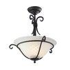 Elstead Lighting Torchiere 1 Light Semi-Flush Ceiling Light