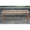 Arbora Teak Calcutta Backless Solid Teak Picnic Bench