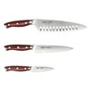 Ergo Chef Crimson Series 3 Piece Knife Set
