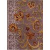 Chandra Rugs Bajrang Purple Floral Area Rug