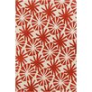 Chandra Rugs INT Ivory/Red Floral Area Rug