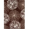 Chandra Rugs Davin Brown / White Abstract Rug
