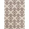 Chandra Rugs Lima Flat Weaved Rectangle Reversible Wool Brown/Cream Area Rug