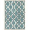 Chandra Rugs Davin Moroccan Pattern Blue Area Rug