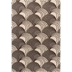 Chandra Rugs INT Abstract Brown/Ivory Area Rug