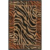 Chandra Rugs Safari Brown/Black Zebra Print Area Rug