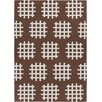 Chandra Rugs Lima Brown/White Abstract Rug