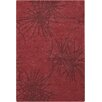 Chandra Rugs Seedling Patterned Rectangular Contemporary Designer Red/Burgundy Area Rug