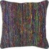 Chandra Rugs Textured Contemporary Silk Throw Pillow