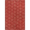 Chandra Rugs Stella Patterned Contemporary Wool Red/White Area Rug