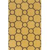 Chandra Rugs Stella Patterned Contemporary Wool Yellow/Brown Area Rug