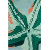 Chandra Rugs Stella Patterned Contemporary Wool Aqua Area Rug