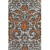 Chandra Rugs Stella Patterned Contemporary Wool Gray/Orange Area Rug