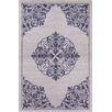 Chandra Rugs Stella Patterned Contemporary Wool Light Gray/Navy Area Rug