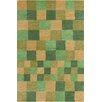 Chandra Rugs Stella Patterned Contemporary Wool Green/Gold Area Rug