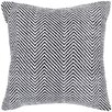 Chandra Rugs Textured Contemporary Cotton Throw Pillow
