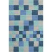Chandra Rugs Stella Patterned Contemporary Blue & Gray Area Rug