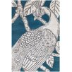 Chandra Rugs Thomaspaul Patterned Designer Teal/Gray Area Rug