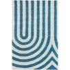 Chandra Rugs Thomaspaul Patterned Designer Blue/White Area Rug