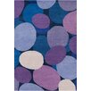 Chandra Rugs Stella Patterned Contemporary Wool Purple/Blue Area Rug