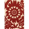 Chandra Rugs Thomaspaul Patterned Designer Red/Cream Area Rug