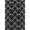Chandra Rugs Stella Patterned Contemporary Wool Charcoal Area Rug