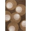 Chandra Rugs Stella Patterned Contemporary Wool Brown Area Rug