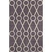 Chandra Rugs Stella Patterned Contemporary Wool Dark Gray/Cream Area Rug
