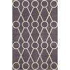 Chandra Rugs Stella Patterned Contemporary Wool Dark Gray/Cream Area Rug