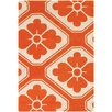 Chandra Rugs Thomaspaul Patterned Designer Orange/Cream Area Rug