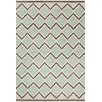 Chandra Rugs Stella Patterned Contemporary Wool Cream/Aqua Area Rug