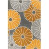 Chandra Rugs Thomaspaul Patterned Designer Gray/Yellow Area Rug