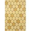 Chandra Rugs Stella Patterned Contemporary Wool Gold Area Rug