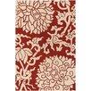 Chandra Rugs Thomaspaul Patterned Designer Red/Cream Area Rug