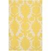 Chandra Rugs Thomaspaul Patterned Designer Yellow/Cream Area Rug