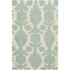 Chandra Rugs Thomaspaul Patterned Designer Blue/Cream Area Rug