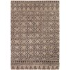Chandra Rugs Berlow Patterned Contemporary Wool Brown Area Rug