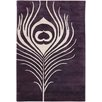 Chandra Rugs Thomaspaul Patterned Designer Purple/Cream Area Rug