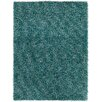 Chandra Rugs Blossom Textured Shag Blue Area Rug