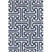 Chandra Rugs Thomaspaul Patterned Designer Blue/Cream Area Rug