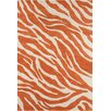 Chandra Rugs Stella Patterned Contemporary Wool Orange/White Area Rug