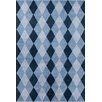 Chandra Rugs Stella Patterned Contemporary Wool Blue Area Rug