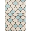 Chandra Rugs Stella Patterned Contemporary Wool Cream/Blue Area Rug
